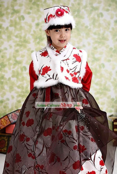 Traditional Korean Winter Kids Hanbok
