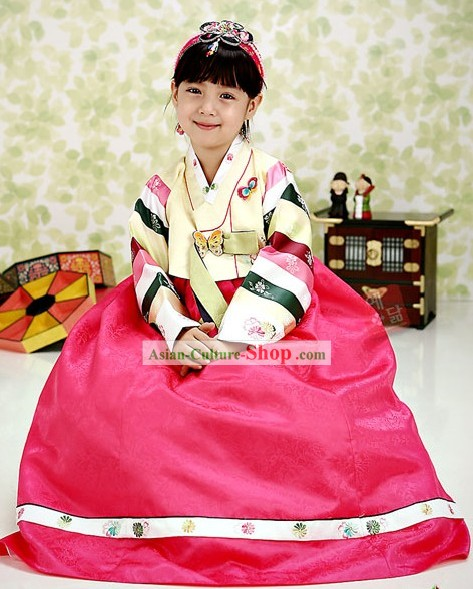 Korean Female Kids Hanbok Costume Complete Set