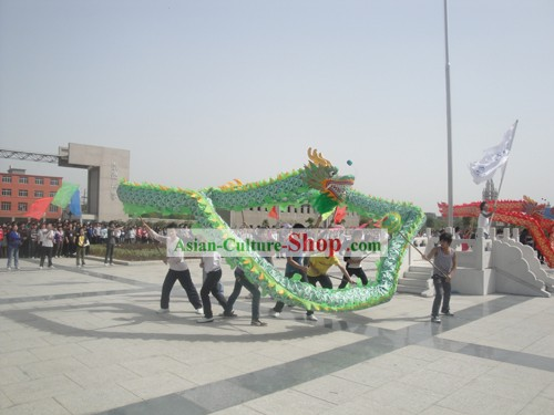 Traditional Green Beijing Dragon Dance Costume Complete Set