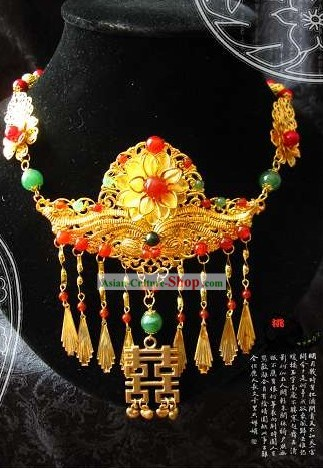 Traditional Chinese Handmade Wedding Happiness Necklace