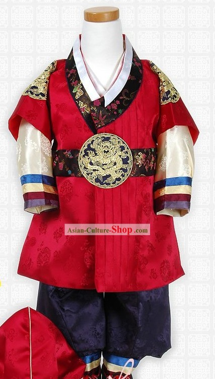 Ancient Korean Court Imperial Costumes for Children