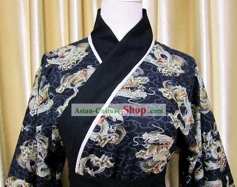 Traditional Chinese Dragon Hanfu Clothing Complete Set
