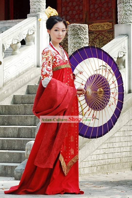 Chinese Tang Dynasty Princess Beauty Clothing Complete Set
