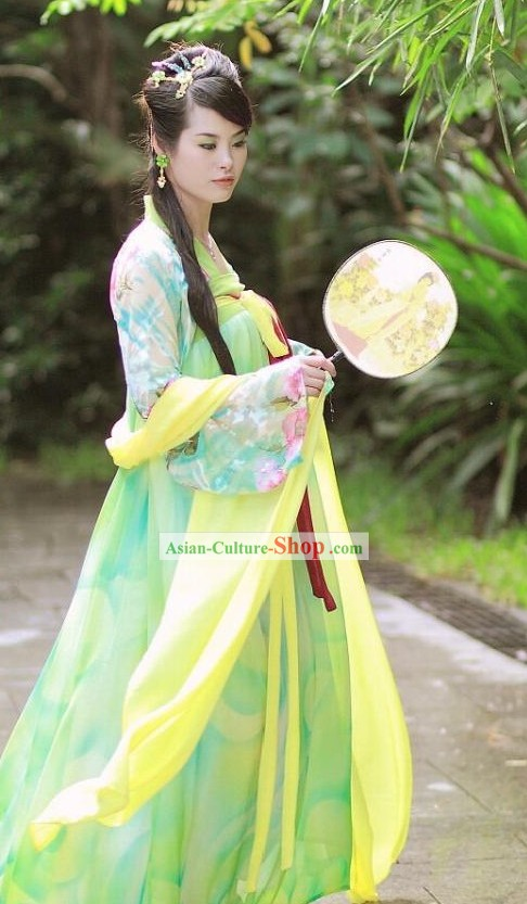 Ancient Chinese Tang Dynasty Royal Lady Han Fu Clothing