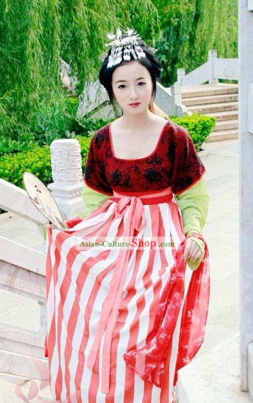 China Tang Dynasty Beauty Dress Set