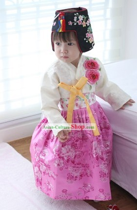 Traditional Korean Baby Girl Hanbok Clothing
