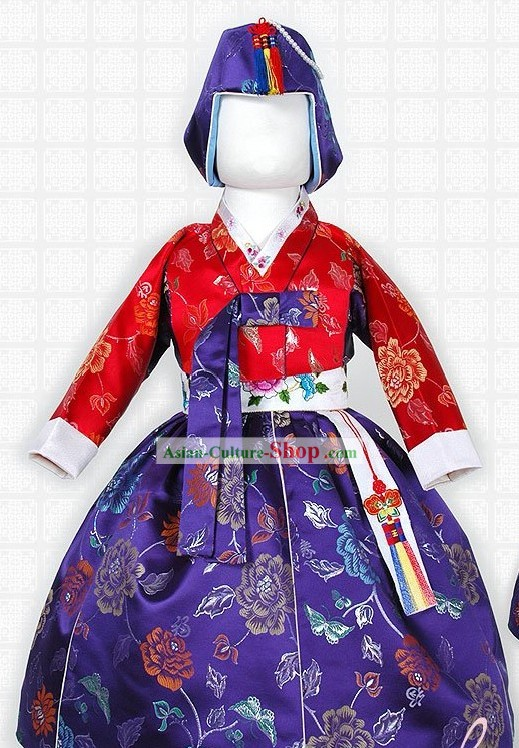 Traditional Korean Female Children Hanbok Clothing