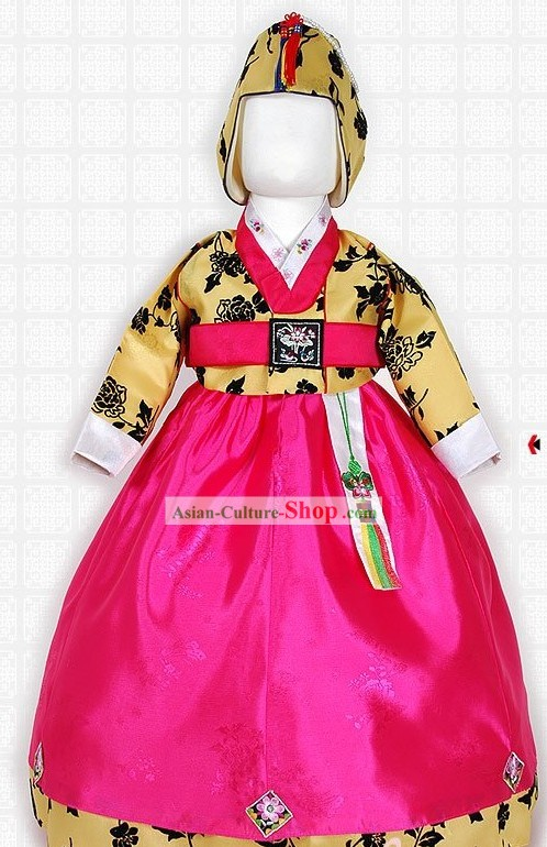 Traditional Korean Hanbok Clothing for Children