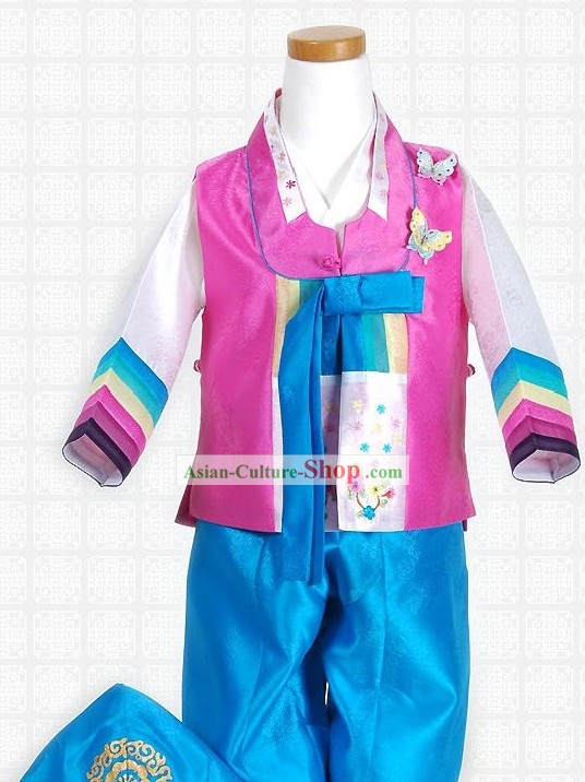 Traditiona Korean Boys Hanbok Complete Set