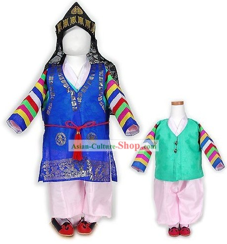 Traditiona Korean Royal Children Clothing Complete Set