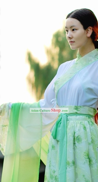 Ancient Chinese Ru Qun Skir Clothing Set for Women