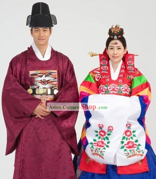 Ancient Korean Palace Wedding Dress 2 Sets