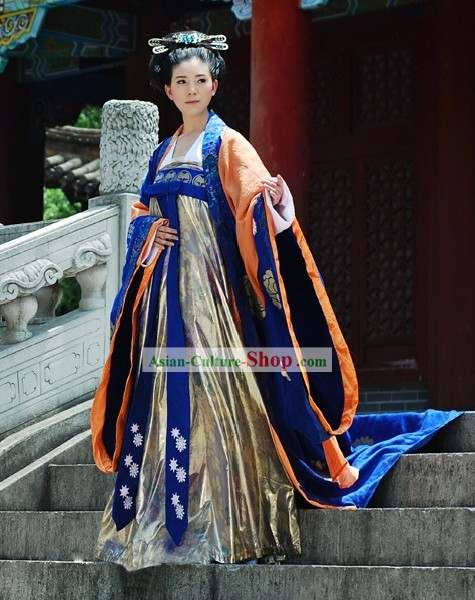 China Tang Period Emperor Wu Zetian Women Emperor Clothing