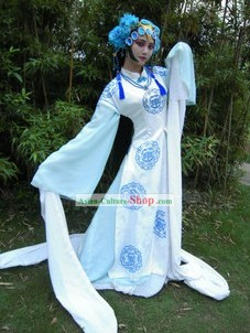 Cosplay Chinese Imperial Concubine Costume and Headpiece Complete Set