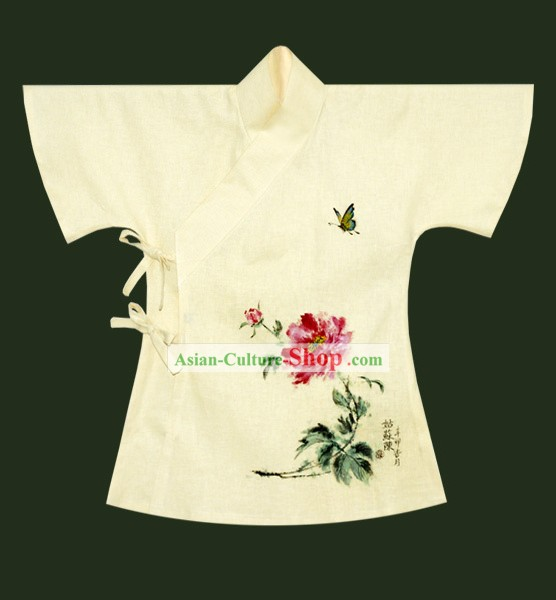 Hand Painted Ban Bi Han Chinese Blouse Clothing