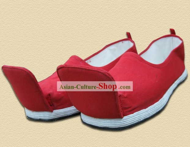 Traditional Chinese Red Shoes for Men