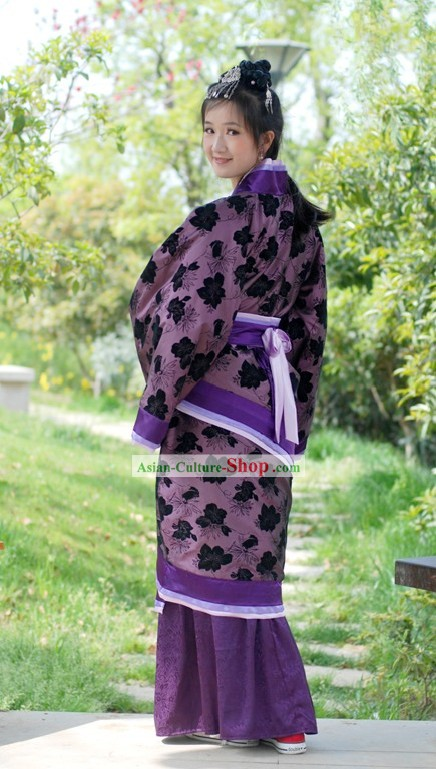 Chinese Royal Han Fu Quju Attire Clothing Complete Set for Women