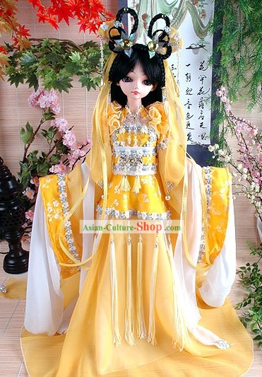 Ancient Chinese Princess Costumes and Hair Accessories Complete Set