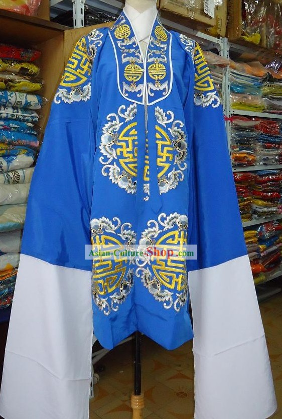 Chinese Beijing Opera Lao Dan Embroidered Flower Robe