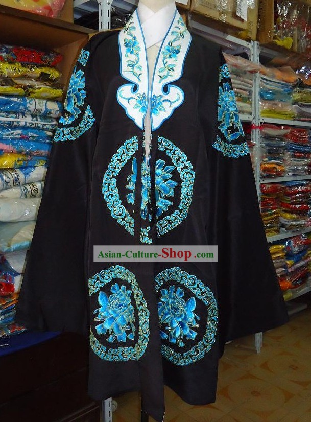 Chinese Black Opera Embroidered Flower Nv Pi Costumes