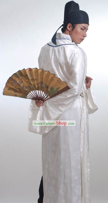 Ancient Chinese Thriving Tang Dynasty Men Poet Clothing and Hat