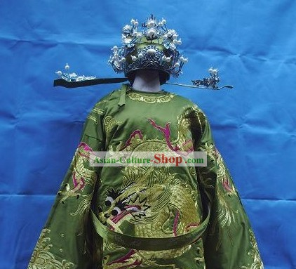 Chinese Opera Prime Minister Costumes and Hat