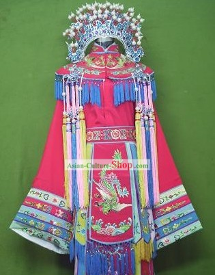 Ancient Chinese Opera Princess Costumes and Phoenix Crown
