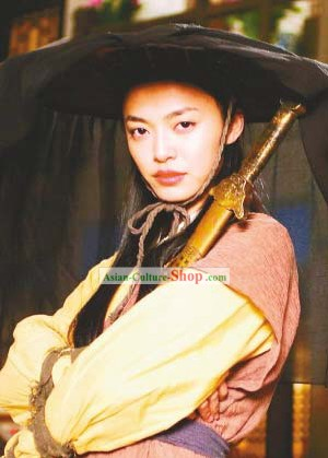 Ancient Chinese Swordswoman Costumes and Hat