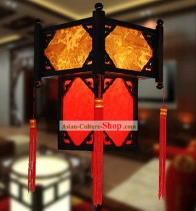 Traditional Chinese Wooden Parchment Palace Lantern