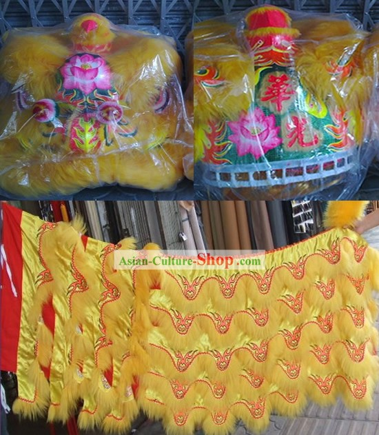 Unique Design Supreme Lotus Lion Dancing Costume Complete Set