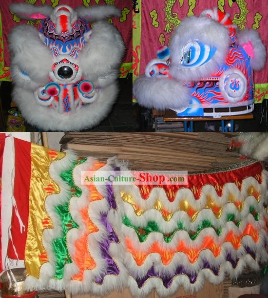 Chinese Luminous Lion Dancing Costume Complete Set