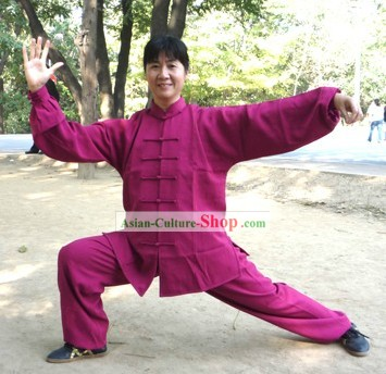 Traditional Chinese Mandarin Martial Arts Cotton Dress Set
