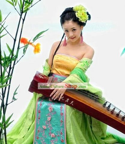 Ancient Chinese Musician Performance Costumes Complete Set