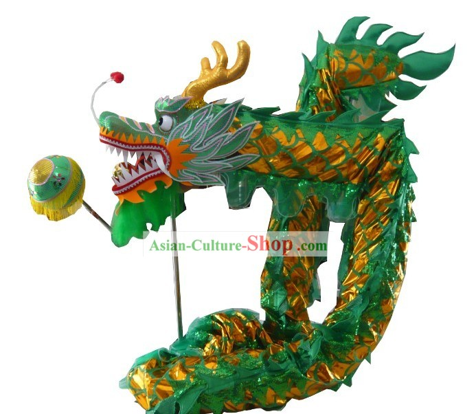 Shinning Green Dragon Dance Costumes Complete Set