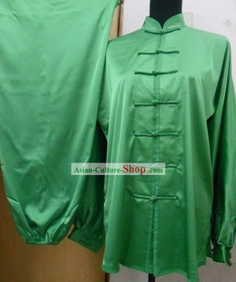 Traditional Chinese Silk Kung Fu Practice Dress