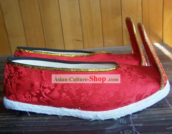 Traditional Chinese Bridegroom Wedding Shoes