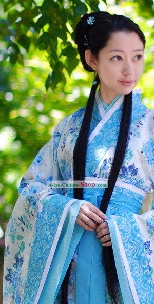 Ancient Han Dynasty Quju Clothing Complete Set