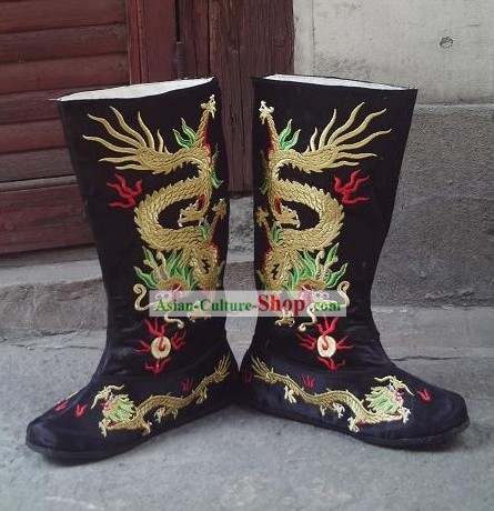 Ancient Chinese Emperor Dragon Boots
