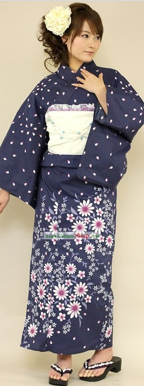Traditional Japanese Kimono Clothing Complete Set for Women