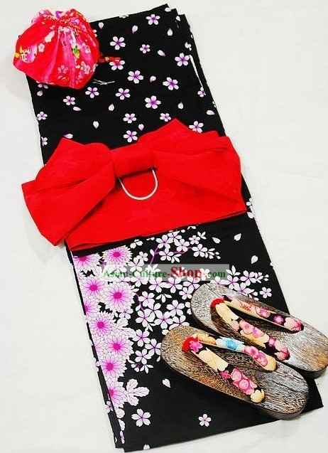 Japanese Yukata Dress Complete Set for Women