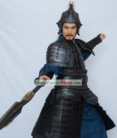 Yue Fei General Costumes and Helmet Complete Set