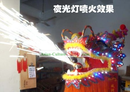 Electric Flame Red Armor Dragon Dance Costumes Complete Set
