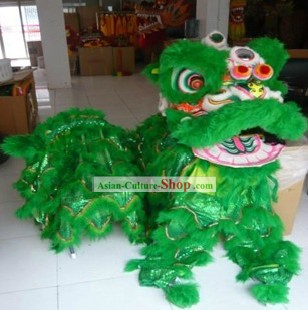 Supreme Green Lion Dance Head and Costumes Complete Set