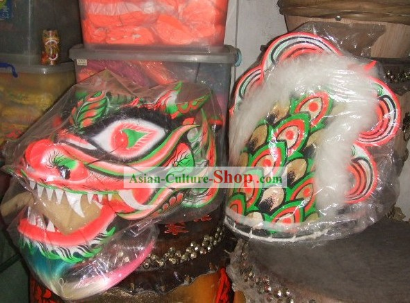 Traditional Chinese Luminous Dragon Dance Costume Complete Set