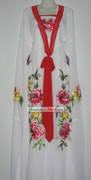 Chinese Classic Palace Embroidered Peony Dance Costumes for Women