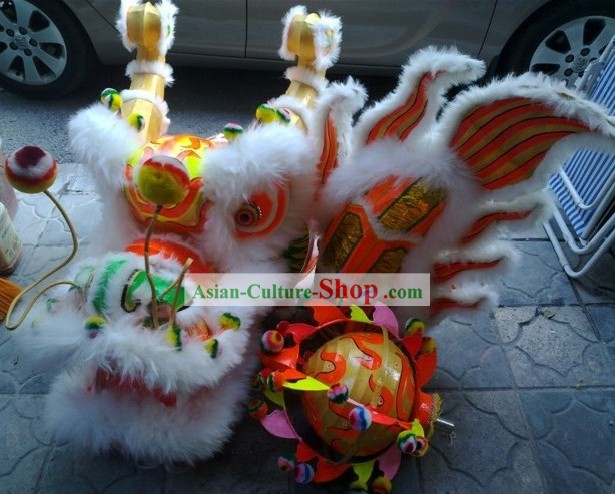 Supreme Chinese Dragon Dance Costume Complete Set for Kids