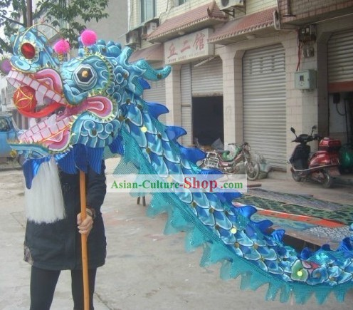 Blue Beijing Olympic Games Dragon Dance Costume Complete Set