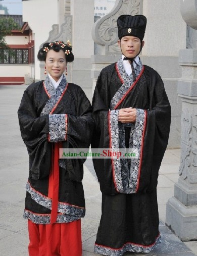 Traditional Chinese Ceremony Hanfu Suit for Men and Women