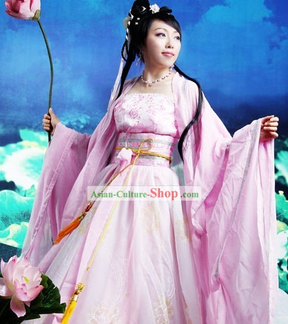 Chinese Pink Hanfu Garment for Women