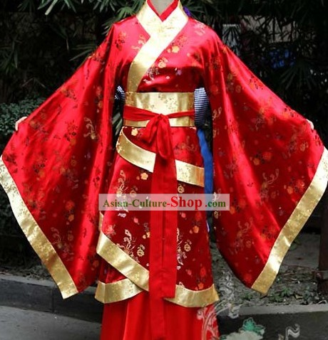 Traditional Chinese Red Hanfu Wedding Garment for Women